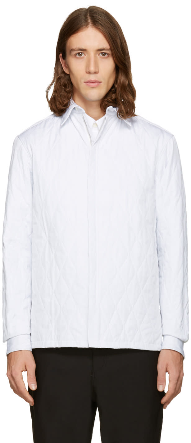Balenciaga White Quilted Shirt