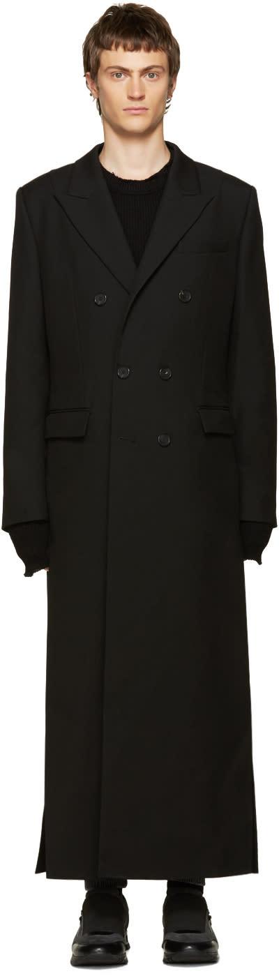 Juun.j Black Double-breasted Coat