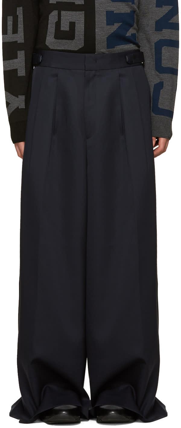 Juun.j Navy Wool Wide-leg Trousers