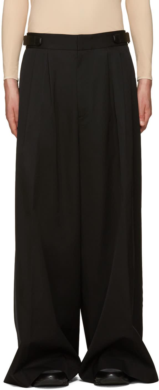 Juun.j Black Wool Wide-leg Trousers