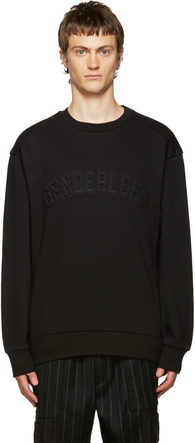 Juun.j Black genderless Sweatshirt