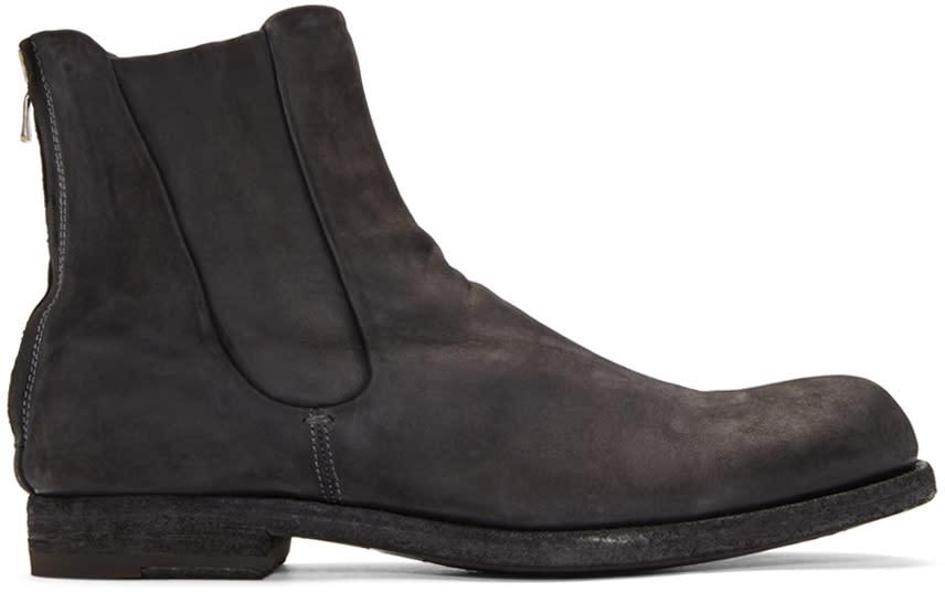 Officine Creative Grey Suede Zip Boots
