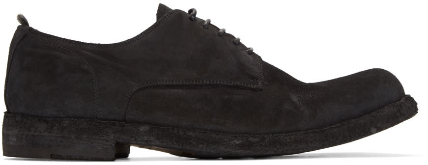Officine Creative Black Suede Ideal Brogues