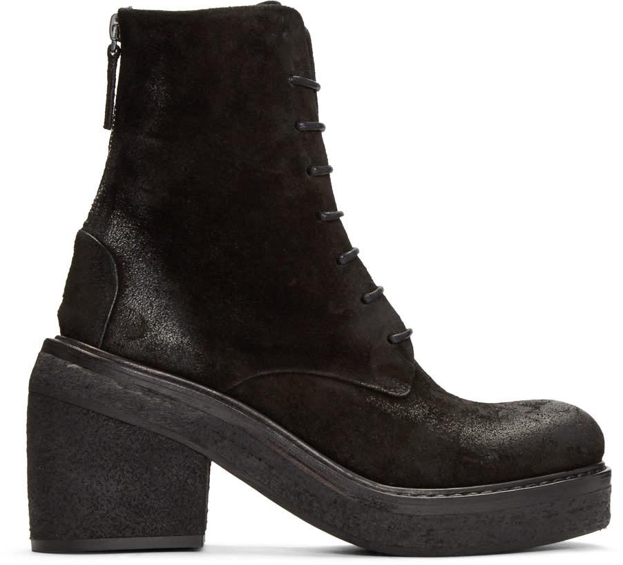Marsell Black Nubuck Parrotta Boots