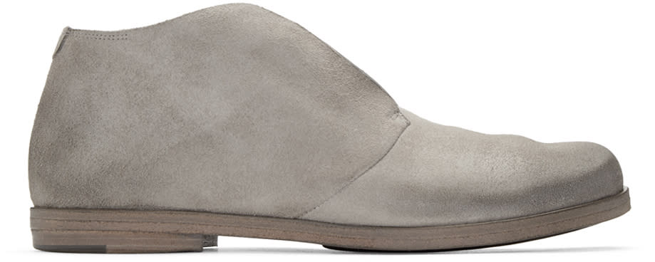 Marsell Grey Suede Listello Boots