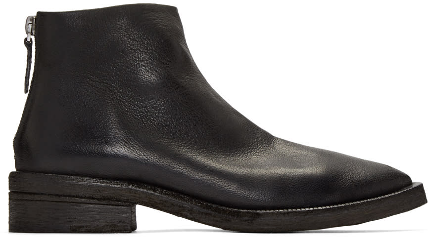 Marsell Black Cunenone Boots
