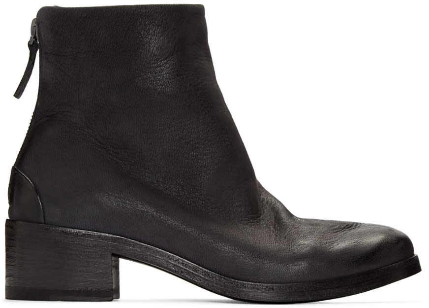 Marsell Black Leather Listo Boots