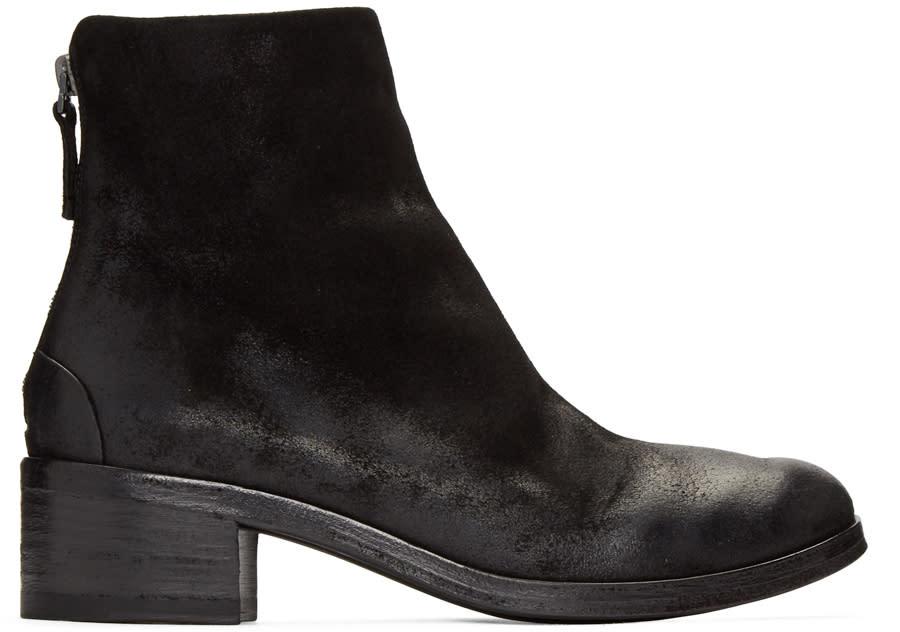 Marsell Black Nubuck Listo Boots