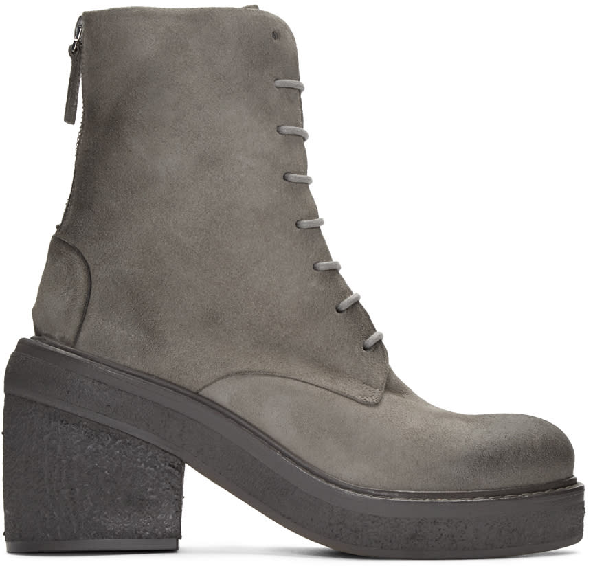 Marsell Grey Suede Parrotta Boots