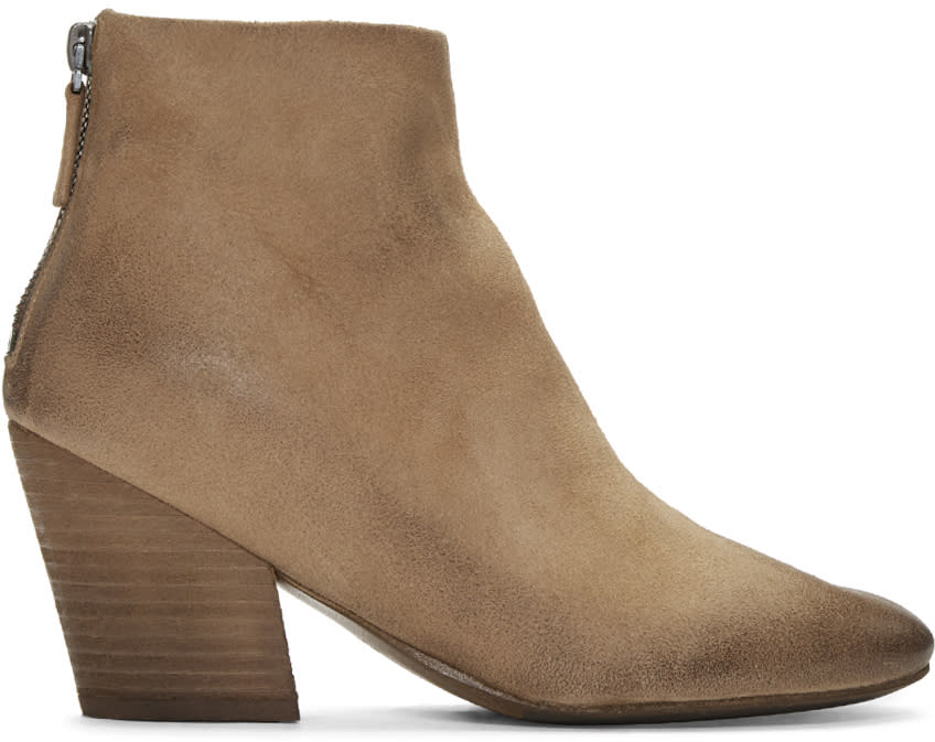 Marsell Beige Suede Pennolina Boots
