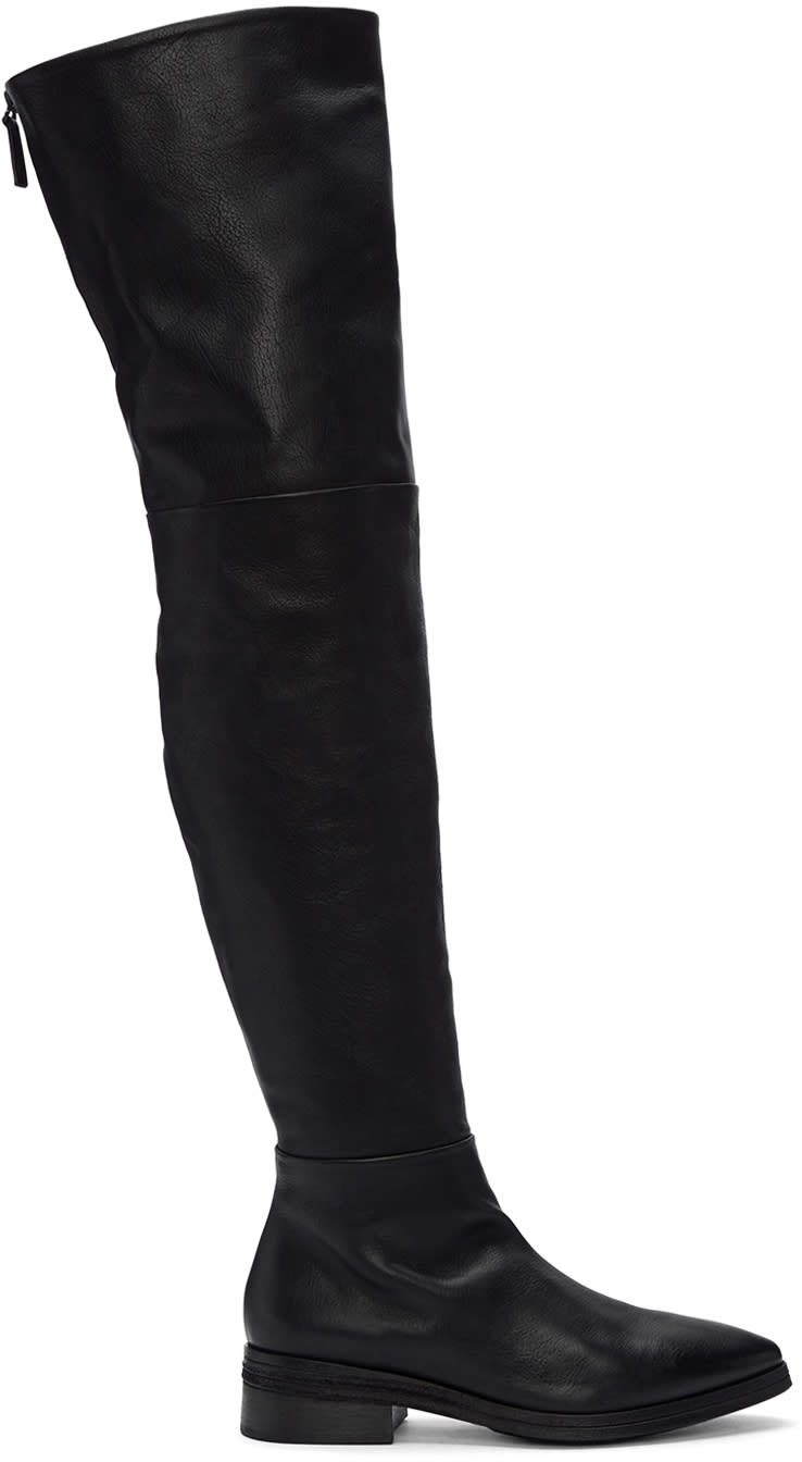 Marsèll-Black-Listone-Over-The-Knee-Boots