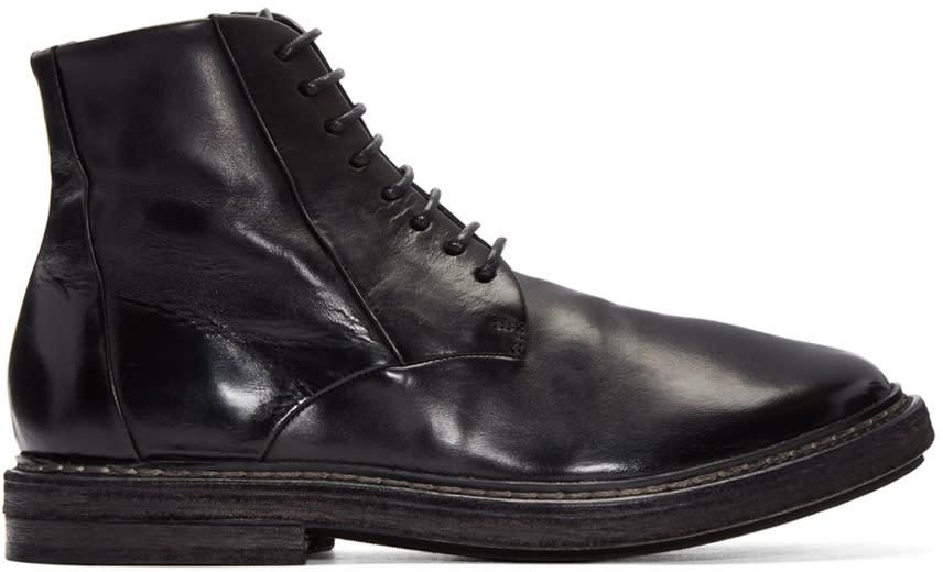 Marsell Black Dru Boots