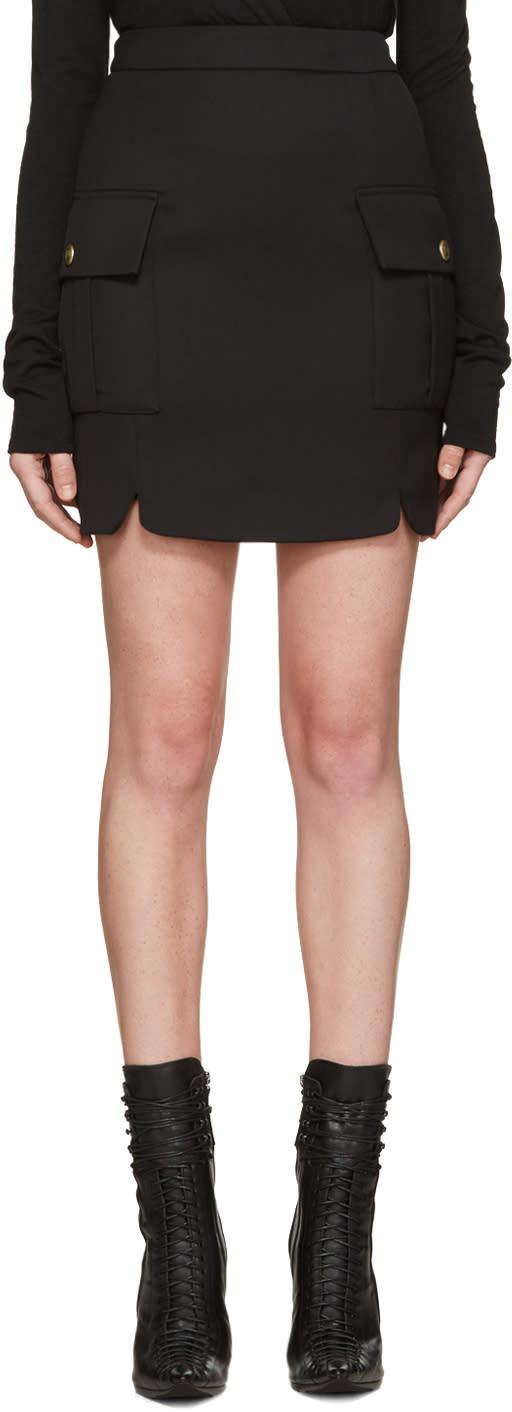 Pierre Balmain Black Pockets Skirt