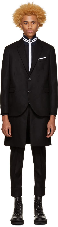Neil Barrett Black Hybrid Coat