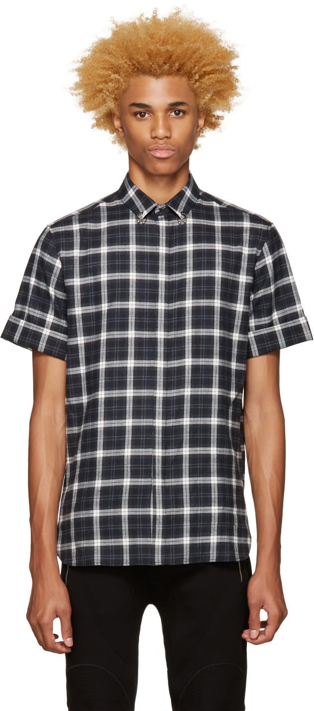 Neil Barrett Grey Pierced Collar Shirt