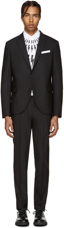 Neil Barrett Black Classic Skinny Suit