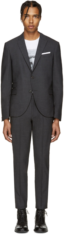 Neil Barrett Grey Classic Skinny Suit