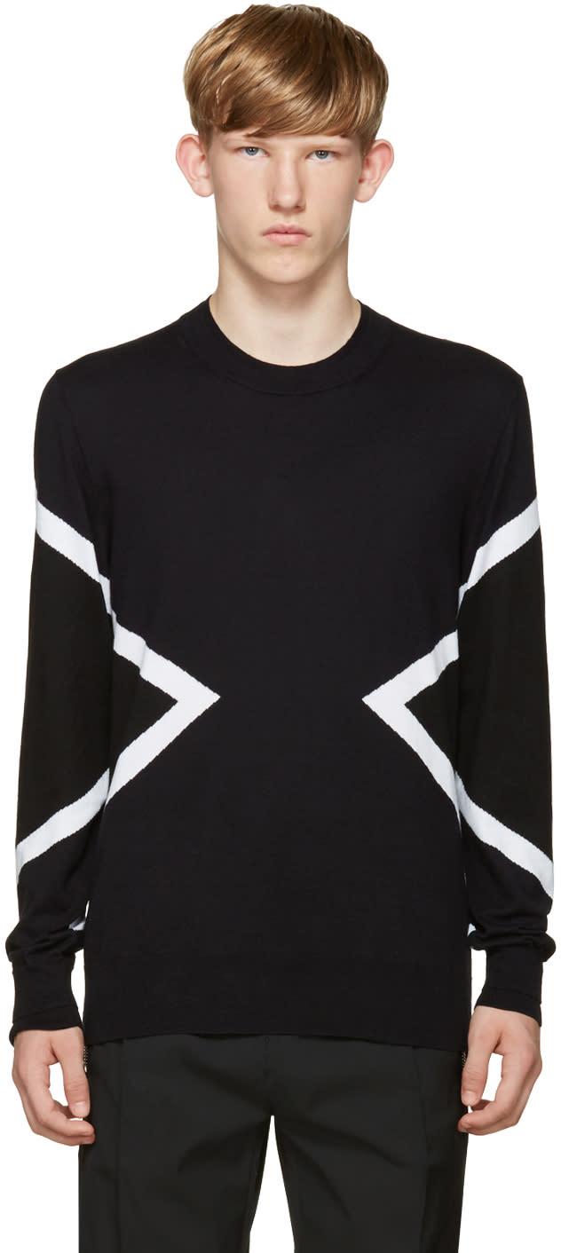 Neil Barrett Blue and Black Modernist Sweater