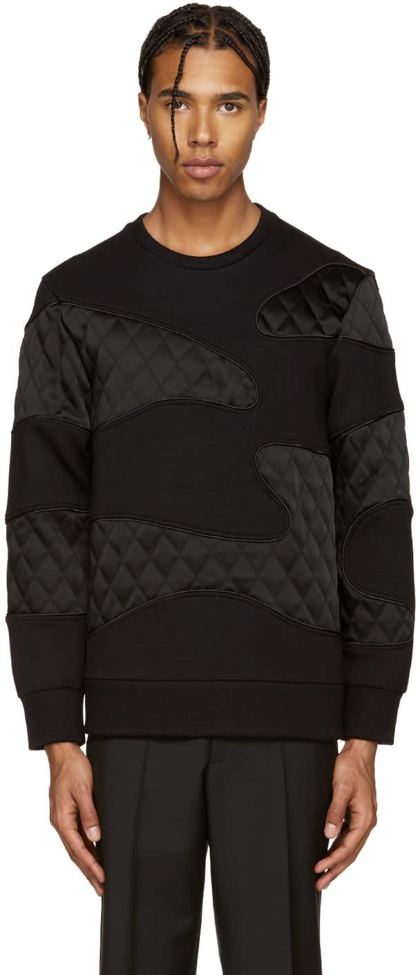 Neil Barrett Black Quilted Camo Pullover