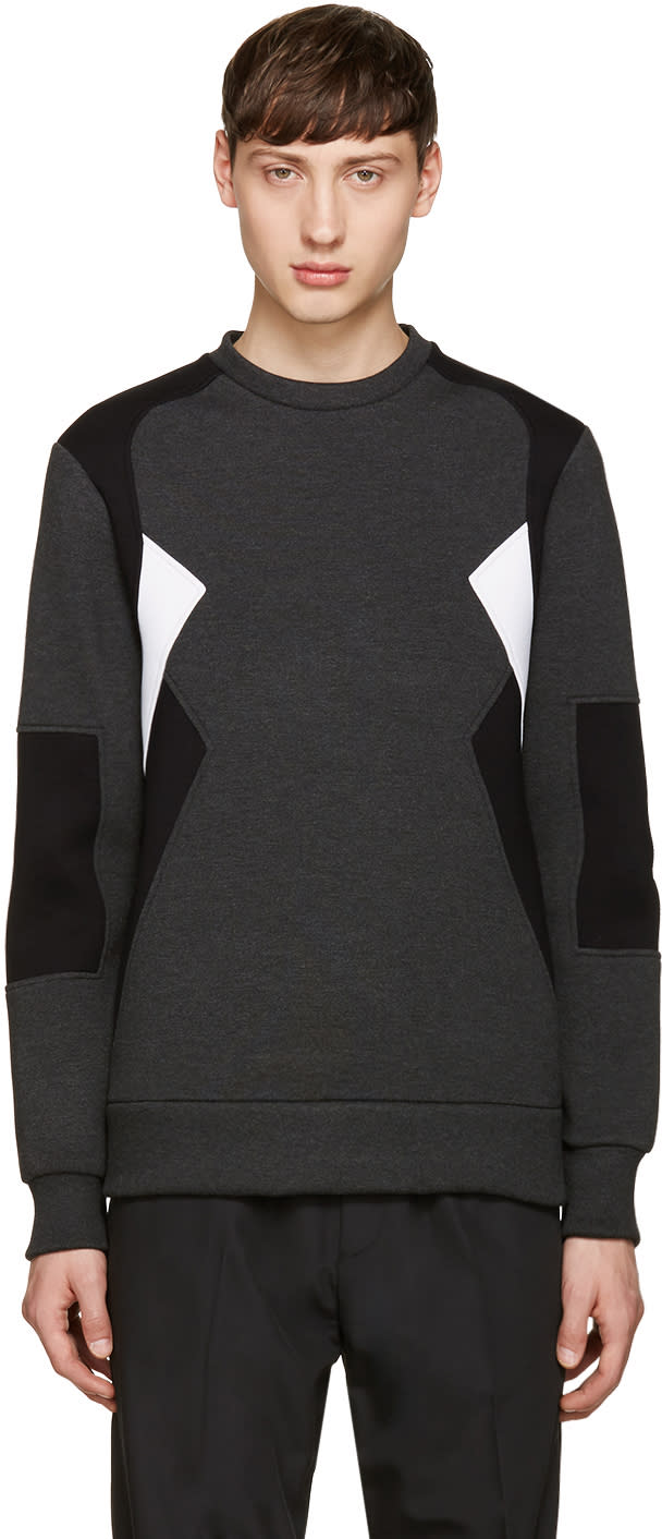 Neil Barrett Grey Retro Modernist Pullover