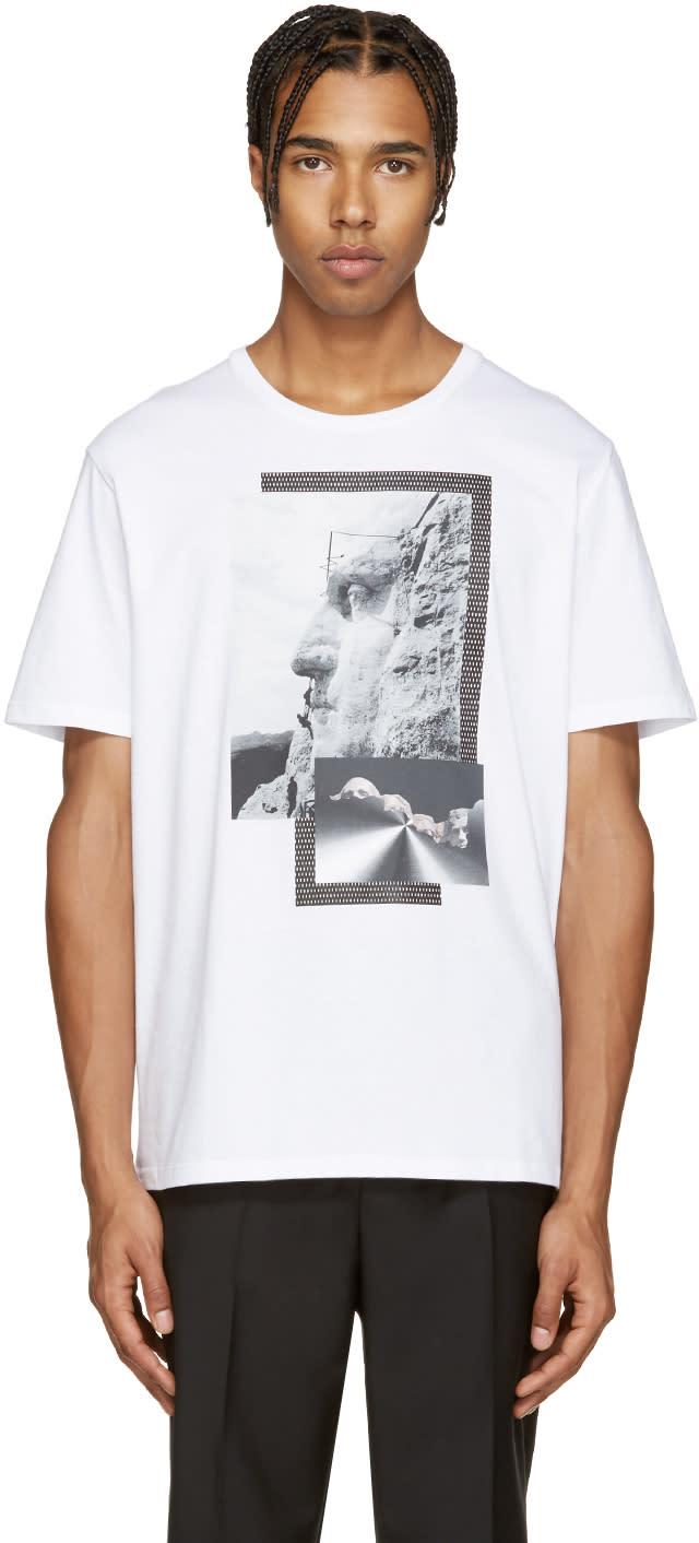 Neil Barrett White Liberty Presidents T-shirt
