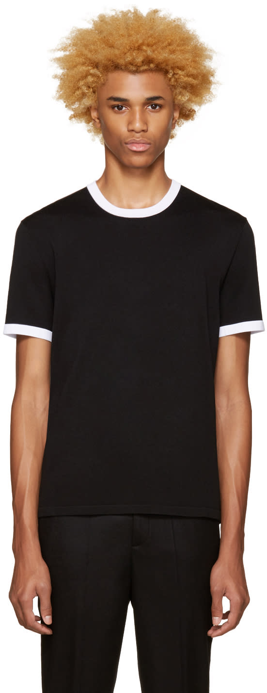 Neil Barrett Black Knit T-shirt