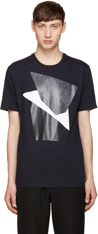 Neil Barrett Navy Modernist Blocking T-shirt