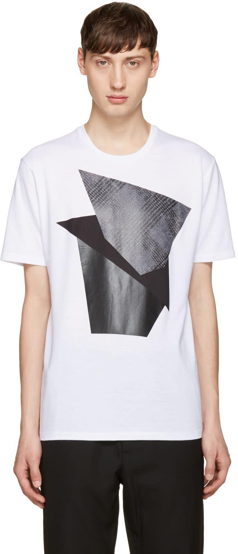 Neil Barrett White Modernist Blocking T-shirt