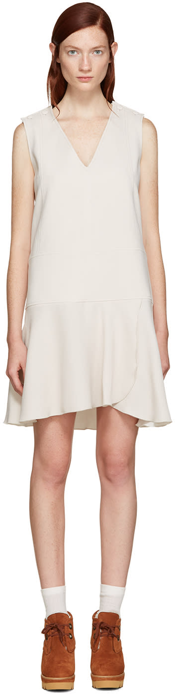 See By Chloe Off-white V-neck Dress