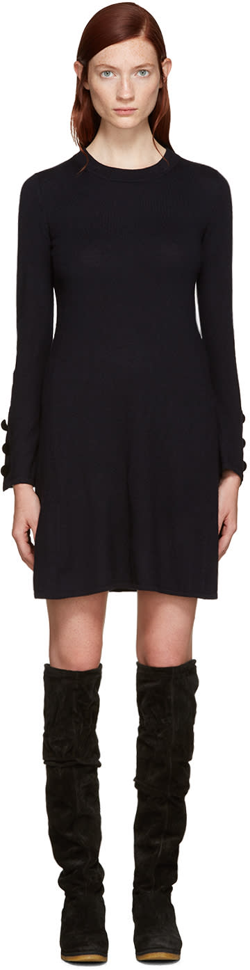 See By Chloe Navy Wool Dress