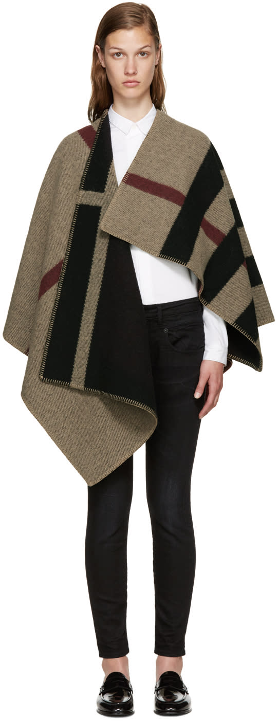 Burberry Tricolor Mega Check Cape