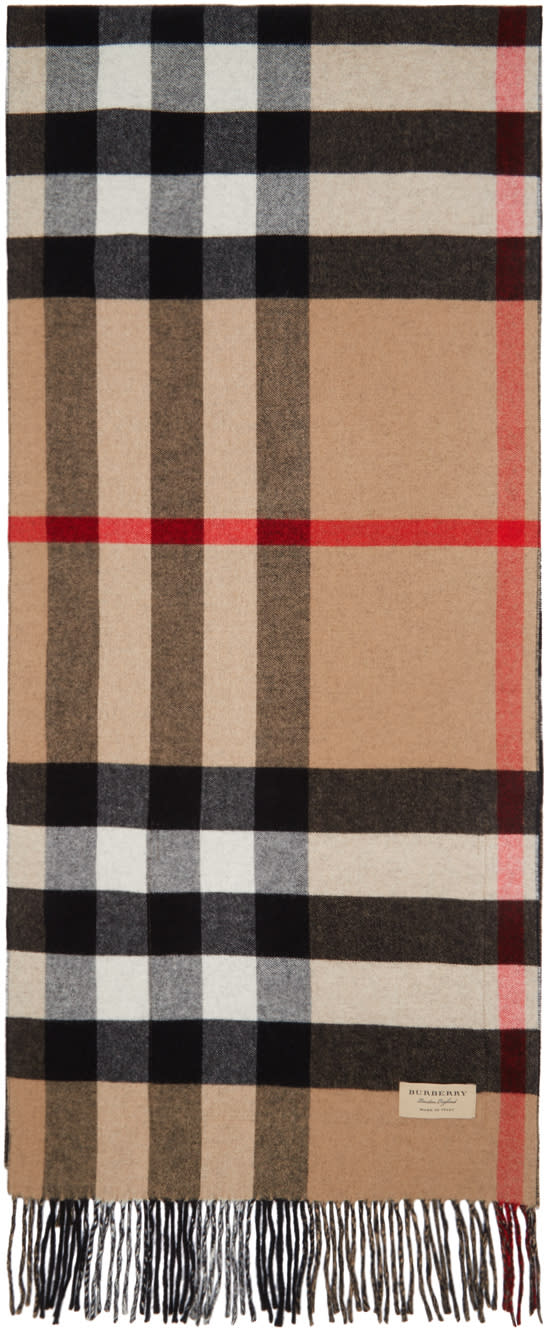 Burberry Beige and Black Helene Pocket Stole