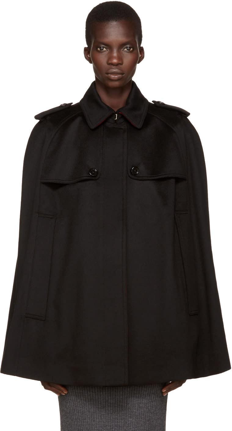 Burberry Black Cashmere Wolseley Cape