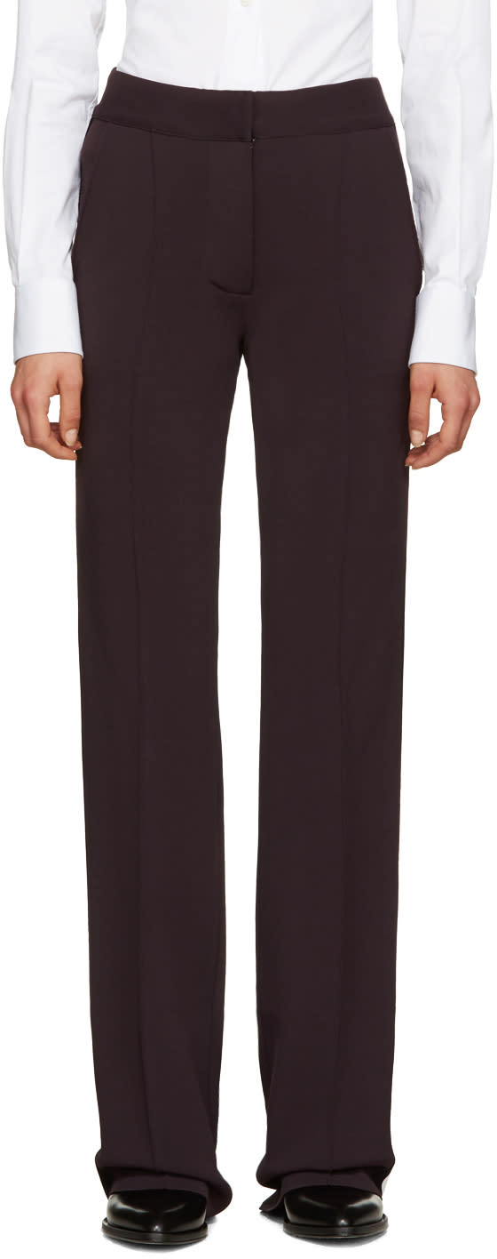 Burberry Brown Sport Stripe Trousers