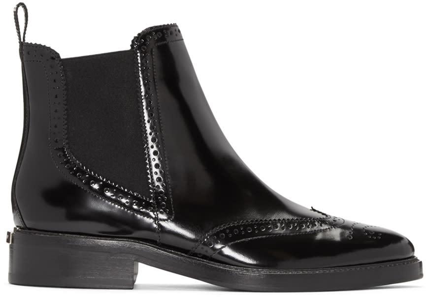 Burberry Black Bactonul Chelsea Boots