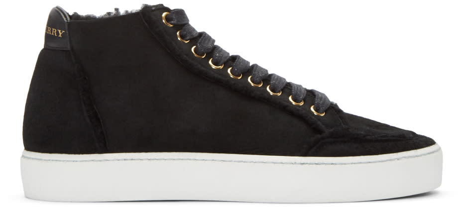 Burberry Black Salmond Mid-top Sneakers