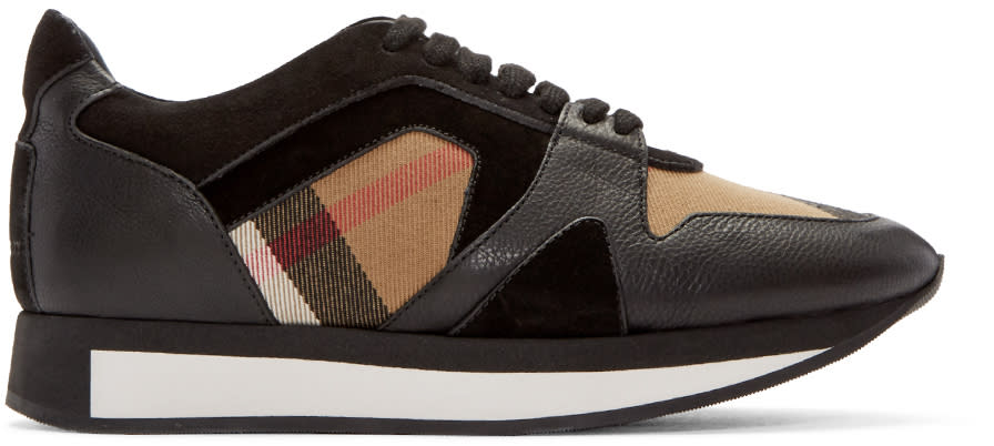 Burberry Black Housecheck Field Sneakers