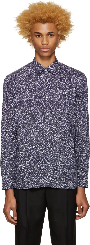 Burberry Blue Printed Wilston Shirt