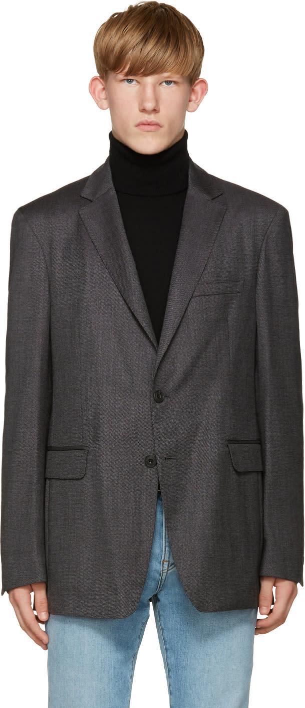 Burberry Grey Millbank Blazer
