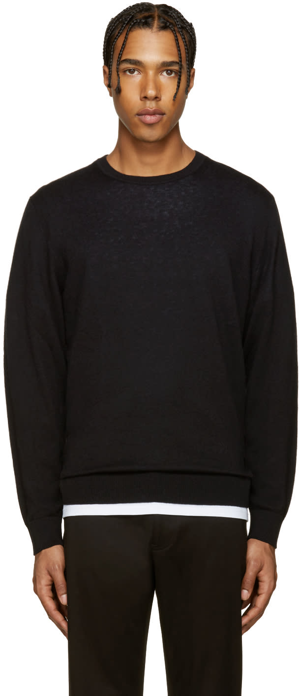 Burberry Black Elbowpatch Sweater