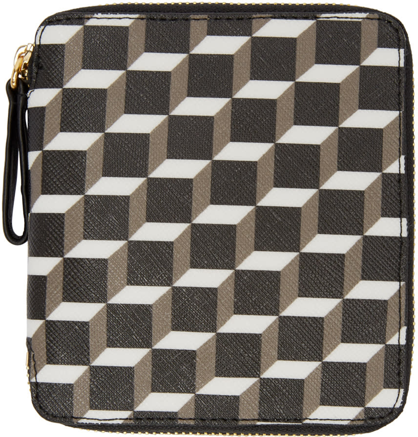 Pierre Hardy Tricolor Perspective Cube Wallet