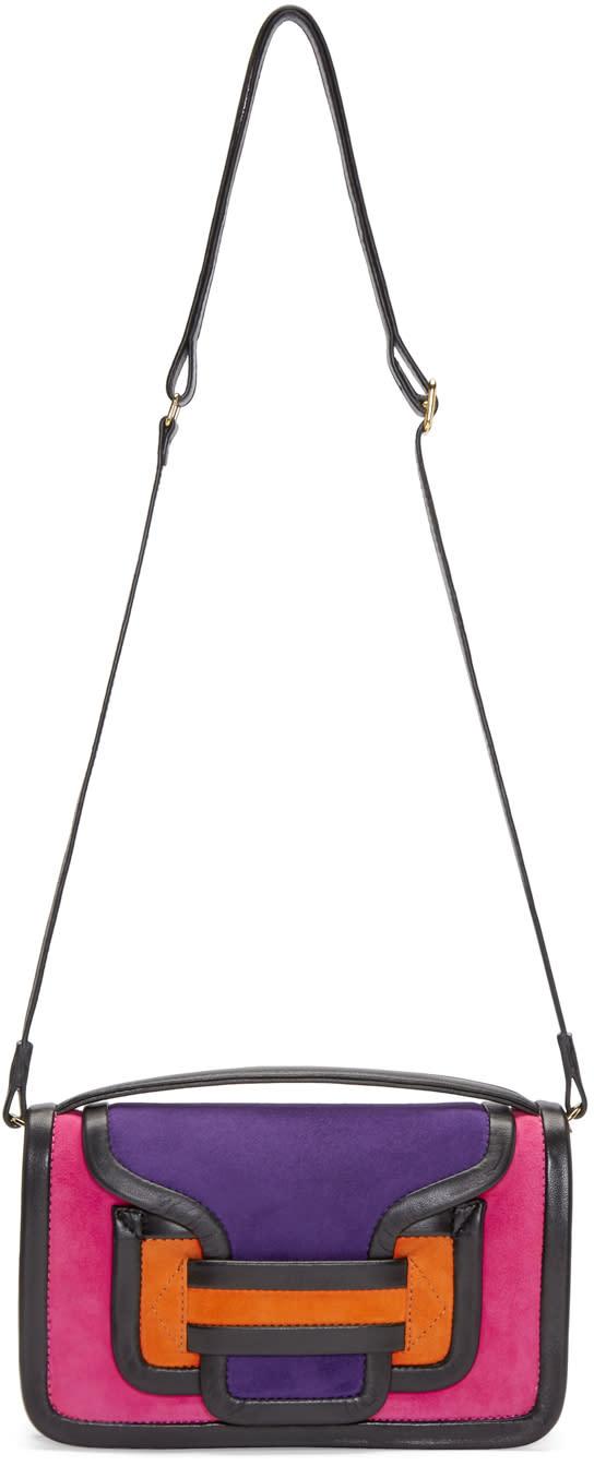 Pierre Hardy Multicolor Suede Alpha Crossbody Clutch
