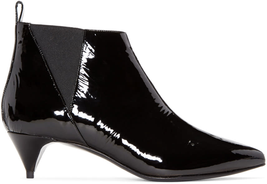 Pierre Hardy Black Patent Leather Boots
