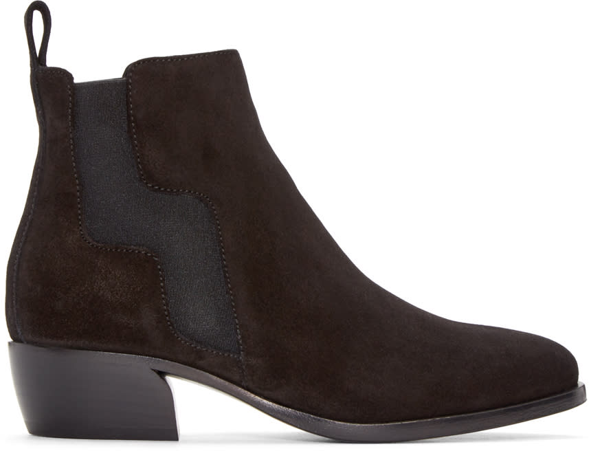 Pierre Hardy Black Suede Ankle Boots