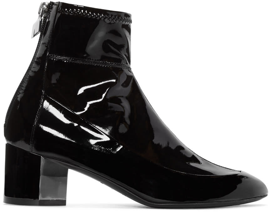 Pierre Hardy Black Patent Leather Illusion Boots