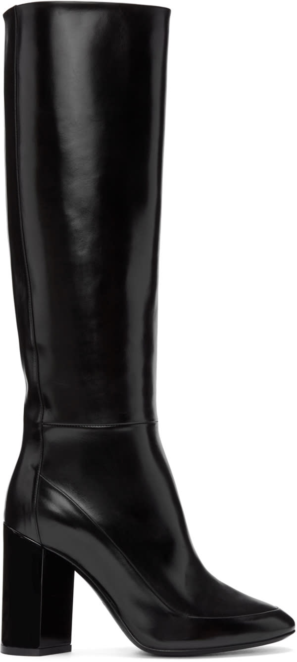 Pierre Hardy Black Illusion Knee-high Boots