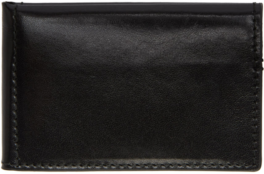 Ann Demeulemeester Black Small Bifold Card Holder