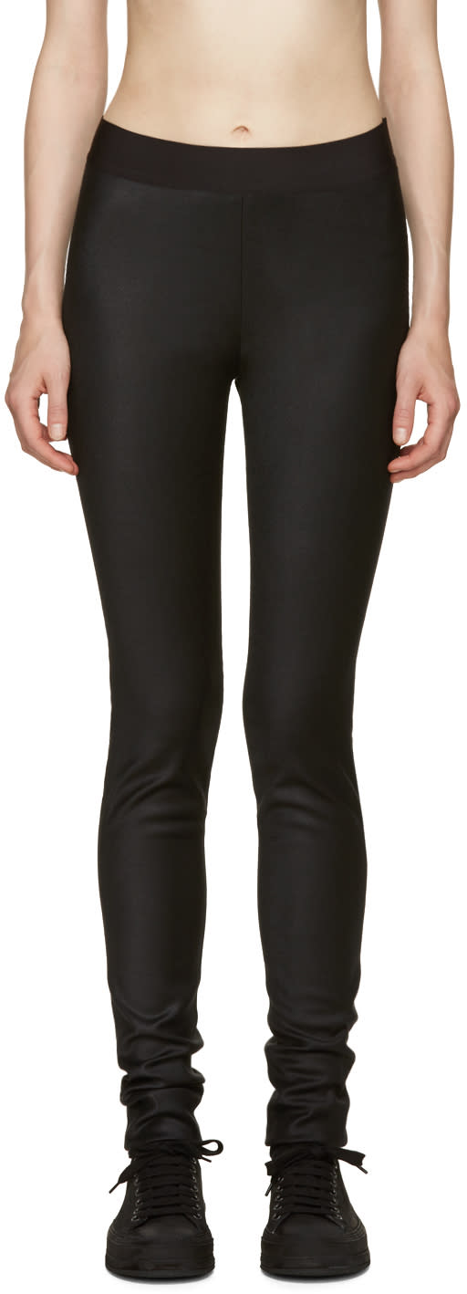 Ann Demeulemeester Black Shiver Leggings