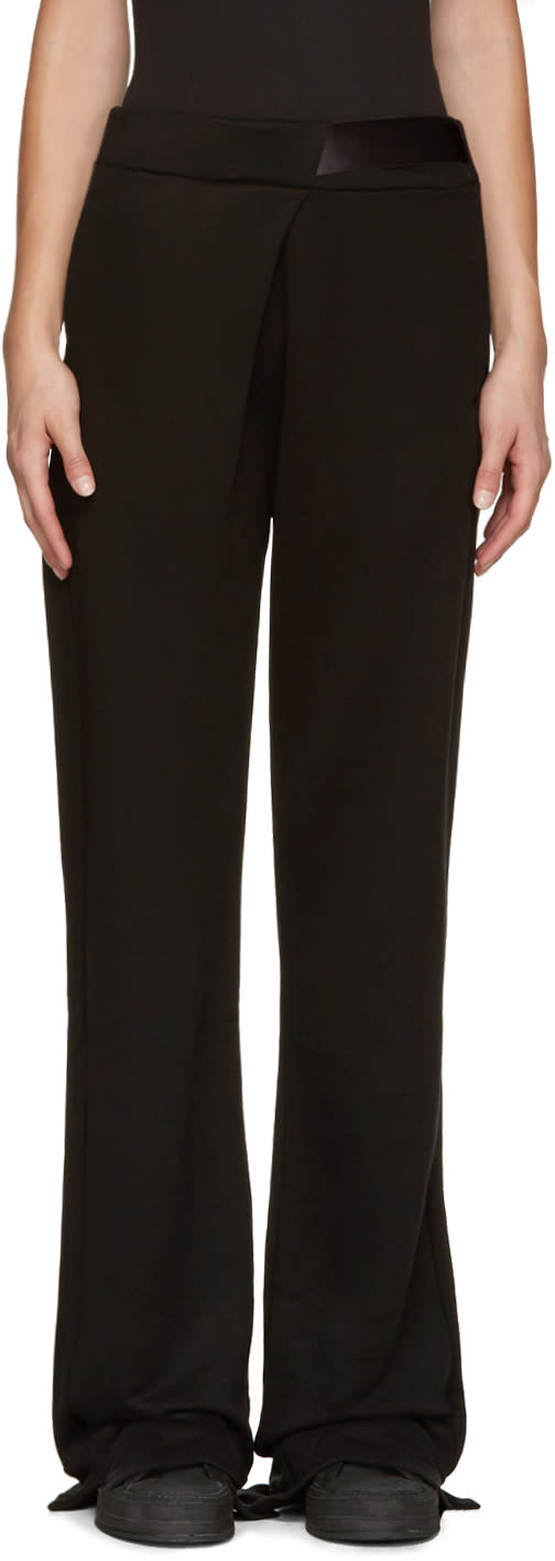 Ann Demeulemeester Black Oversized Lounge Pants
