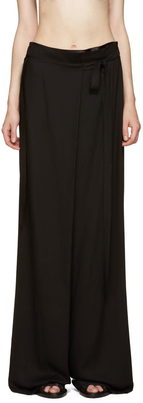 Ann Demeulemeester Black Infinity Trousers